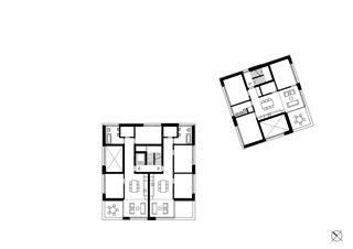 Erdgeschoss Wohnensemble in Erlenbach  von wild bär heule architekten ag