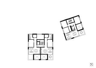 1. Obergeschoss Wohnensemble in Erlenbach  von wild bär heule architekten ag