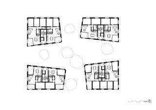 Obergeschoss Geviert - Wohnüberbauung in Näfels von wild bär heule architekten ag