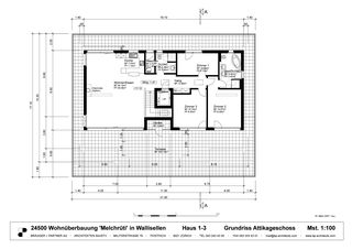 Grundriss Attika Wohnüberbauung «OASE» von Brägger + Partner AG, Architekten SIA / STV