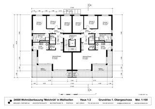 Grundrisse Obergeschoss Wohnüberbauung «OASE» von Brägger + Partner AG, Architekten SIA / STV