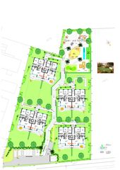 Umgebungsplan Wohnüberbauung «OASE» von Brägger + Partner AG, Architekten SIA / STV