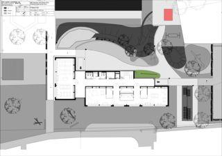 Grundriss Erdgeschoss Erweiterung Schulhaus Feld Suhr von hohl partner ag