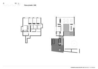 Grundrisse  Villa C, Coppet von counson architectes