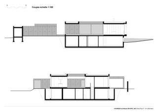 Schnitte Villa C, Coppet von counson architectes