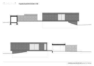 Fassaden West und Ost Villa C, Coppet von counson architectes