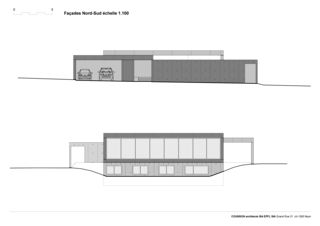 Fassaden Nord und Süd Villa C, Coppet von counson architectes