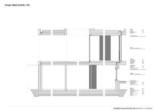 Detailschnitt Villa C, Coppet von counson architectes