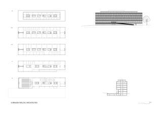 Grundriss, Schnitt, Fassade Haute école de gestion de Genève von Brauen Wälchli Architectes
