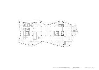 2. Obergeschoss Universitätsbibliothek in Freiburg von Degelo Architekten