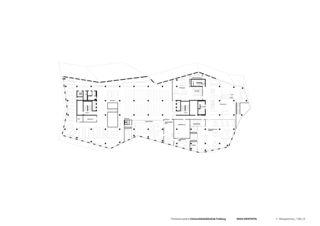 4. Obergeschoss Universitätsbibliothek in Freiburg von Degelo Architekten