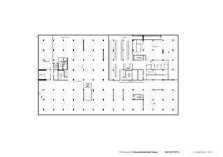 1. Untergeschoss Universitätsbibliothek in Freiburg von Degelo Architekten