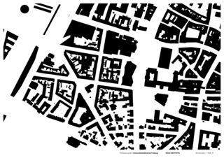 Schwarzplan Universitätsbibliothek in Freiburg von Degelo Architekten