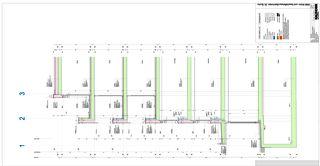 Detailschnitt A Zentrumsüberbauung Buchs von Kaundbe Architekten AG