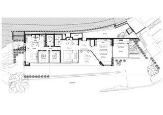 Grundriss Erdgeschoss Casa Privata, Lago di Lugano von Bruno Huber Architetti SA