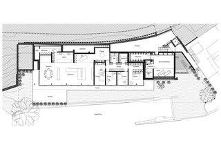 Grundriss Obergeschoss Casa Privata, Lago di Lugano von Bruno Huber Architetti SA
