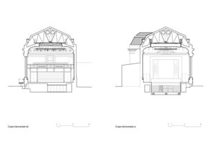Querschnitte BB La Salle del Castillo à Vevey von architecum sàrl
