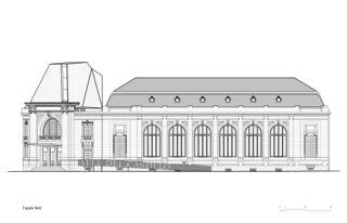 Nordfassade La Salle del Castillo à Vevey von architecum sàrl