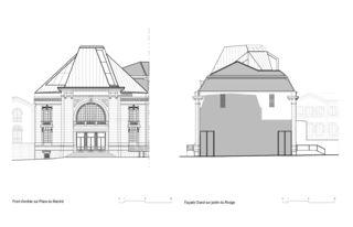 Ost- und Westfassade La Salle del Castillo à Vevey von architecum sàrl