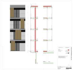Fassadenschnitt 1:20 Mehrfamilienhäuser Schläppliweg Buchs von Kaundbe Architekten AG