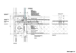 Detail Loggia 'Bellevue' Rigi Kaltbad von alp architektur lischer partner ag