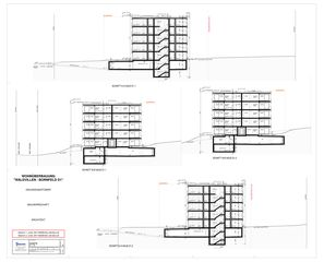 Schnitte Wohnüberbauung Bornfeld, Cubus 1 + 3 von W. Thommen AG