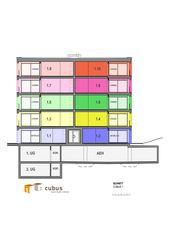 Schnitt Wohnüberbauung Bornfeld, Cubus 1 + 3 von W. Thommen AG