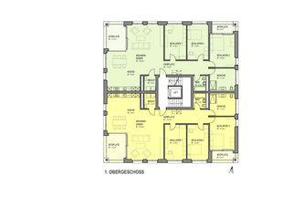 Obergschoss Wohnüberbauung Bornfeld, Cubus 1 + 3 von W. Thommen AG