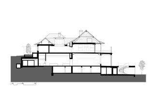 Schnitt Umbau Restaurant Zoo Basel, 2015 von Flubacher Nyfeler Partner Architekten AG