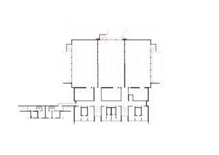 1. Untergeschoss Berufsbildungschule Winterthur, Erweiterung Turnhallen Rennweg von Architekturbüro<br/>