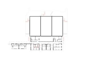 Erdgeschoss Berufsbildungschule Winterthur, Erweiterung Turnhallen Rennweg von Architekturbüro<br/>