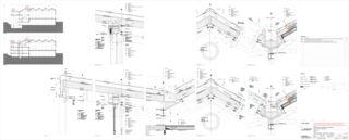 Dachkonstruktion Aufstockung Berufsbildungschule Winterthur, Erweiterung Turnhallen Rennweg von Architekturbüro<br/>
