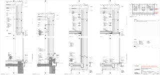 Fassadenkonstruktion Aufstockung Berufsbildungschule Winterthur, Erweiterung Turnhallen Rennweg von Architekturbüro<br/>