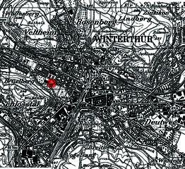 Situationsplan Berufsbildungschule Winterthur, Erweiterung Turnhallen Rennweg von Architekturbüro<br/>