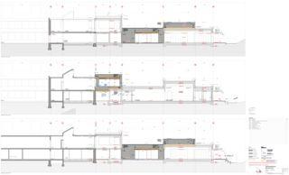 Schnitt 1:50 Erweiterung Schulanlage Steinboden, Eglisau von Architekturbüro<br/>