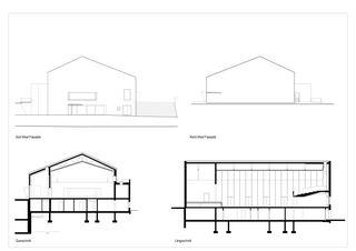 Schnitte Gemeindesaal von SAM Architekten und Partner AG