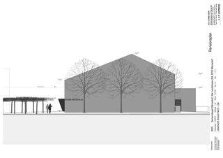 Ansicht Nord-Ost Gemeindesaal von SAM Architekten und Partner AG