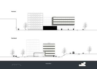 Ansicht Nordost & Nordwest Privera Hauptsitz von Marazzi + Paul Architekten AG