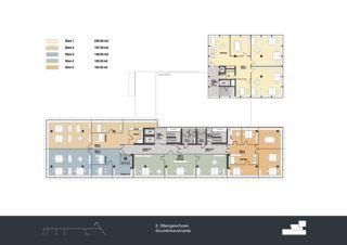 Grundriss 2. Obergeschoss Privera Hauptsitz von Marazzi + Paul Architekten AG