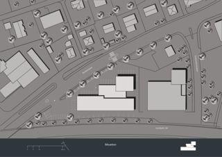 Lageplan Privera Hauptsitz von Marazzi + Paul Architekten AG