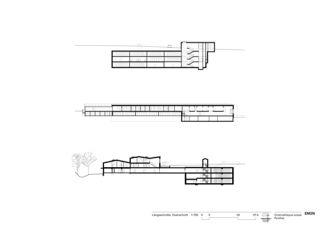 Coupe longitudinale et transversale Cinémathèque suisse  de EM2N | Mathias Müller | Daniel Niggli<br>Architekten AG | ETH | SIA | BSA