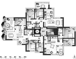Stollturm 3e étage Panorama- und Gartenhaus im Park de Architektur Rolf Stalder AG