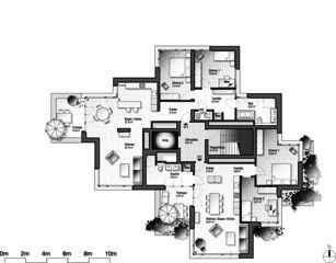Stollturm 7. OG Panorama- und Gartenhaus im Park von Architektur Rolf Stalder AG