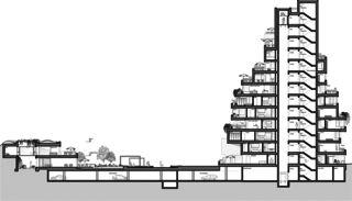 Stollturm Gesamtschnitt Panorama- und Gartenhaus im Park von Architektur Rolf Stalder AG