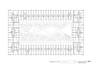 1. Obergeschoss Wohnhaus am Rietpark, Baufeld C von EM2N | Mathias Müller | Daniel Niggli<br>Architekten AG | ETH | SIA | BSA