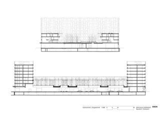 Querschnitt, Längsschnitt Wohnhaus am Rietpark, Baufeld C von EM2N | Mathias Müller | Daniel Niggli<br>Architekten AG | ETH | SIA | BSA