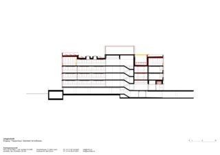 Längsschnitt Sanierung und Erweiterung Gemeindehaus Horw von ARGE Harry van der Meijs & raumfalter Architekten GmbH