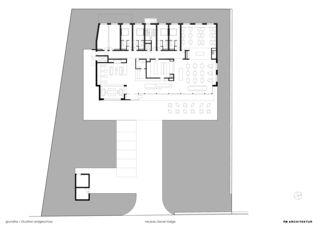 Erdgeschoss Hotelneubau Bever Lodge von Architektur- und Planungsbüro<br/>
