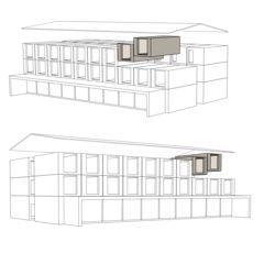 Axonometrie Hotelneubau Bever Lodge von Architektur- und Planungsbüro<br/>
