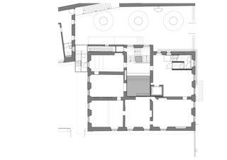 1. Obergeschoss Maison de l'Absinthe von Atelier d'Architecture Manini Pietrini Sàrl